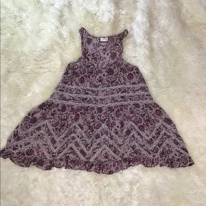 Free People Women's Black Voile And lace Slip-Purp